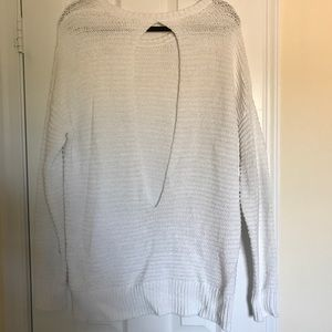 DKNY White open back summer sweater